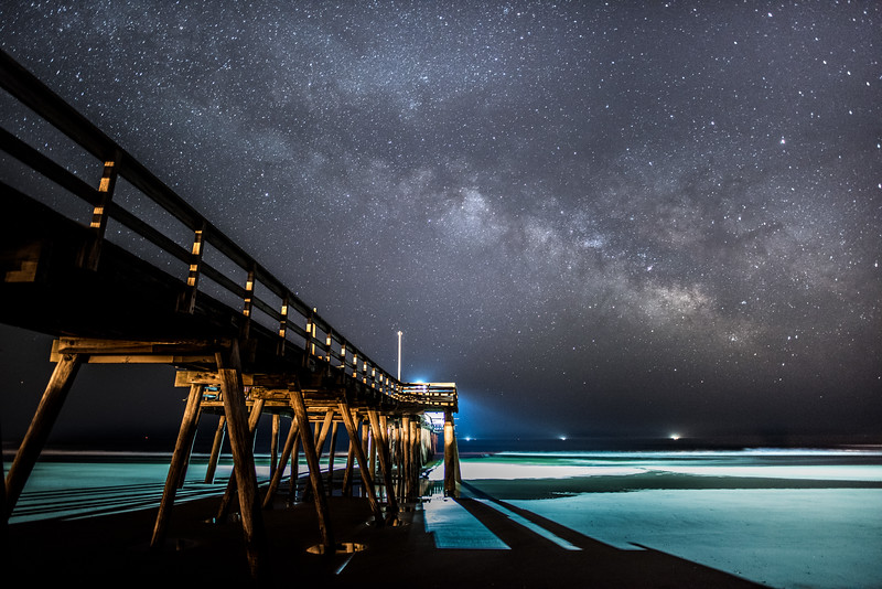 Milky Way Arching Over Avalon Pier 5/9/16