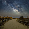 The Milky Way Rising Over Beach Pathway in Avalon 3/13/19
