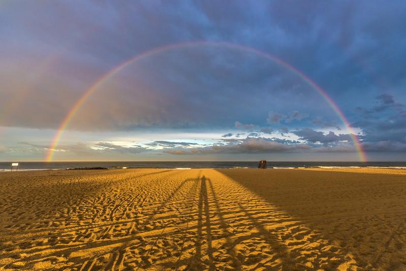 Double Rainbow Over Ocean Grove Beach 7/1/17