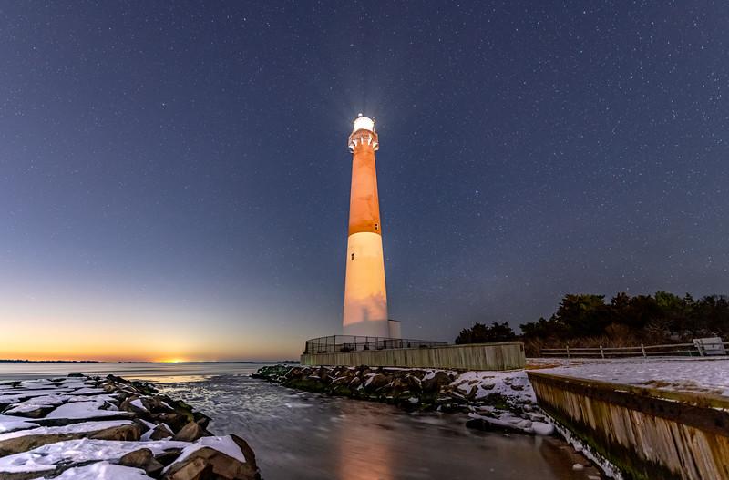Starry Night Over Barnegat Lighthouse 2/3/19