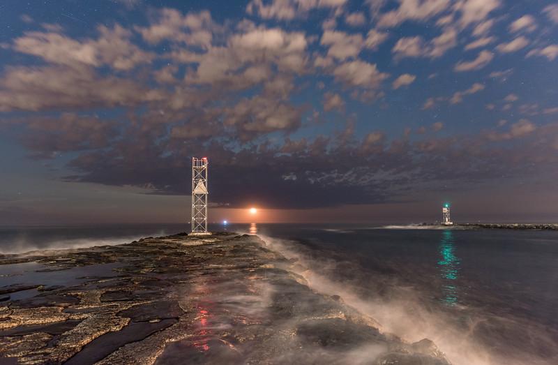 Moonrise Over Shark River Inlet 6/22/16
