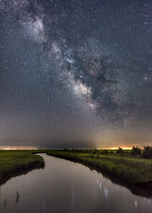 The Milky Way Rising Over Marshlands On Southern New Jersey Coast 7/9/18