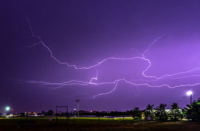 Lightning over Monmouth Executive Airport 10/2/18
