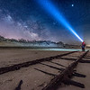"The Milky Way Rising Over Old ""Ghost Tracks"" Railroad on Cape May Beach 3/17/18"