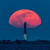 The Full Worm Moon Rising Over The Barnegat Lighthouse 3/9/20