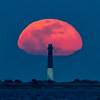 The Full Worm Moon Rising Over The Barnegat Lighthouse 3/9/20