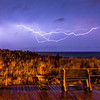 Lightning Over Ocean at Ocean Grove Boardwalk 10/30/16