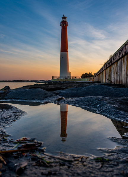 Predawn Colors and Reflection of Barnegat Lighthouse 1/21/18