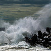 Rough Seas Crashing Against The Rock Jetty, Point Pleasant, NJ 9/15/20