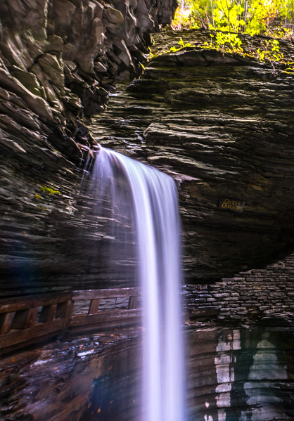 Center Cascade Waterfall in Watkins Glen State Park, NY 10/16/17