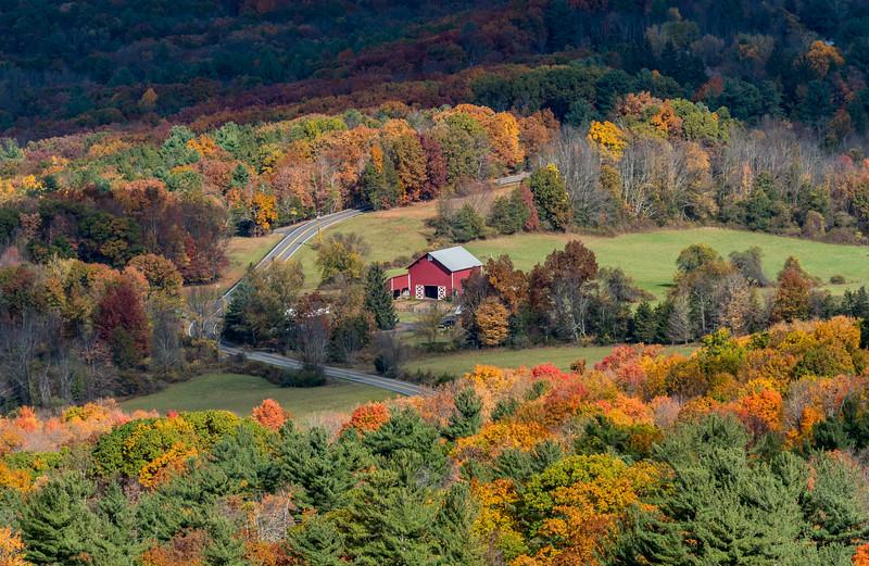 Autumn Colors Around Farmhouse in Upstate NY 10/24/16