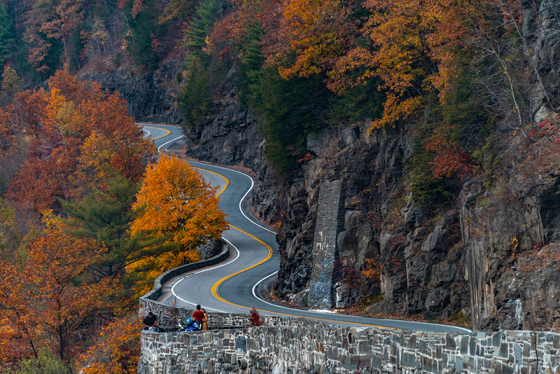 Hawk's Nest Winding Road Surrounded By Autumn Colors 10/22/20