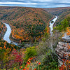A Scenic View Of Lehigh River Gorge, PA 10/18/19