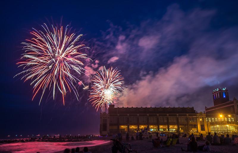 Fireworks Over Convention Hall, Asbury Park, NJ