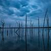 Cloudy Sunrise Reflection at Manasquan Reservoir 7/15/18