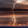 A Brilliant Lightning Strike Over The Ocean 7/29/20