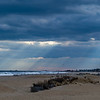 Sunrays Through the Clouds Panorama Over Ocean Grove, NJ