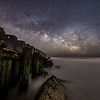 The Milky Way Rising Over The Old Wooden Jetty In Holgate, Long Beach Island 2/22/20