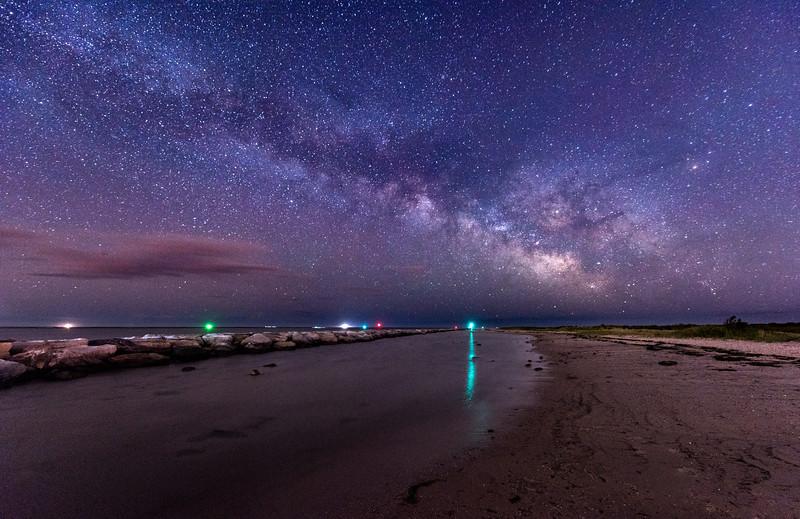 The Milky Way Rising Over Barnegat Beach 5/27/17