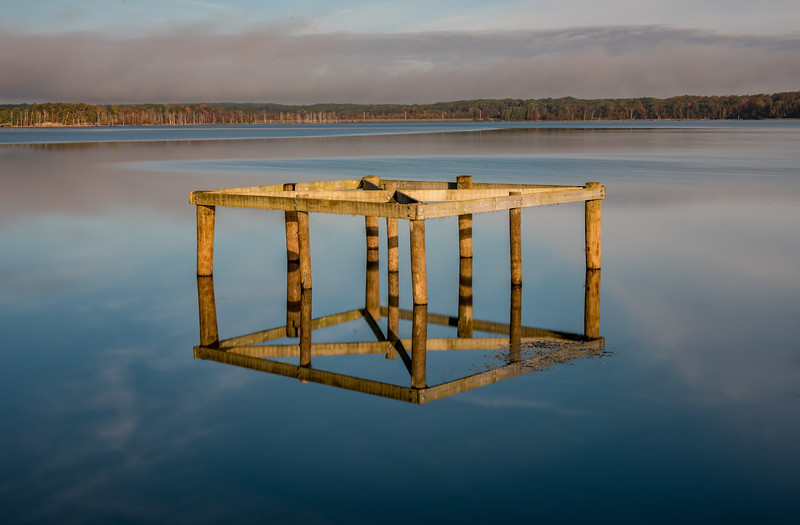 Platform Reflecting in Manasquan Reservoir 10/23/17