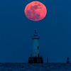 Full Moon Rising Over Great Beds Lighthouse 2/10/17