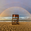 Double Rainbow Over Lifeguard Chair on Ocean Grove Beach 7/1/17