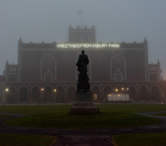 Foggy Morning Over Asbury Park Convention Hall 7/3/18