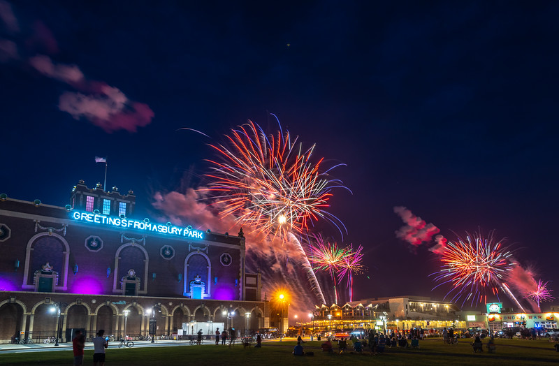 Fourth of July Fireworks Over Convention Hall & The Wonder Bar in Asbury Park 7/4/18