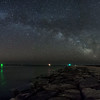 Milky Way Galaxy Arching Over Barnegat Inlet 4/6/16