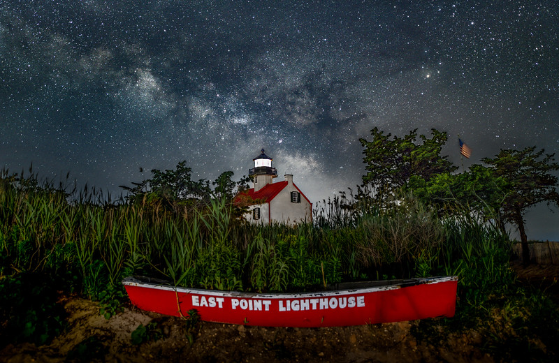 The Milky Way Rising Over The East Point Lighthouse 6/13/20
