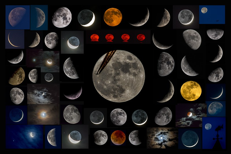 Collage of Moon Shots 2014 - 2015