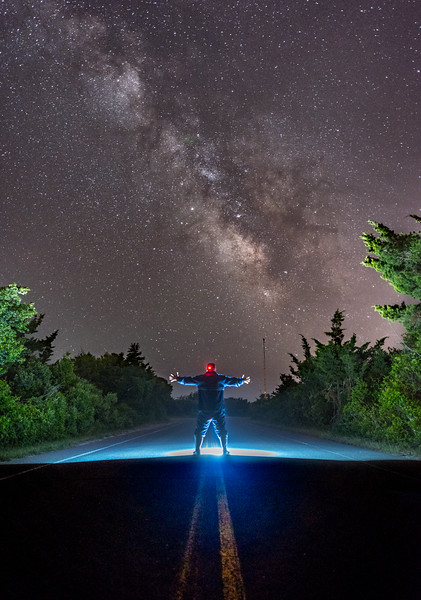 The Milky Way Arching Over The Access Road in Island Beach State Park 6/12/18
