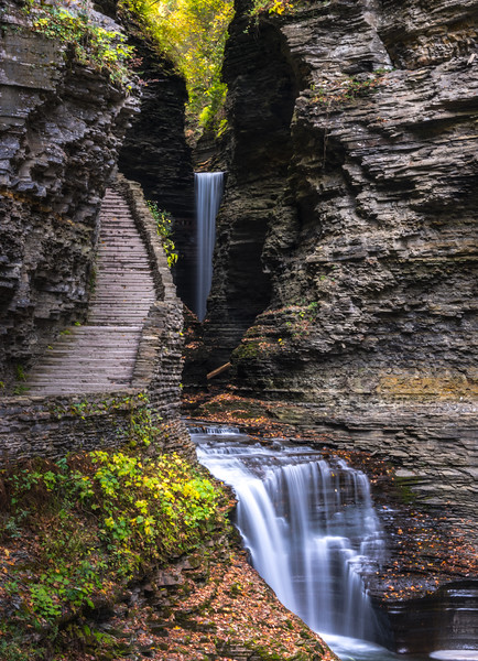 Central Cascade Waterfall in Watkins Glen State Park, NY 10/16/17