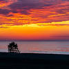 Predawn Colors Over A Lifeguard Stand On Ocean Grove Beach 6/28/20