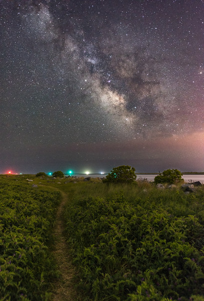 The Milky Way Rising Over Footpath In Island Beach State Park 6/12/18