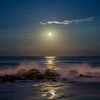 Moon Rise Over Jetty, Ocean Grove, NJ