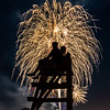 Fireworks Over Lifeguard Stand in Bradley Beach 7/3/19