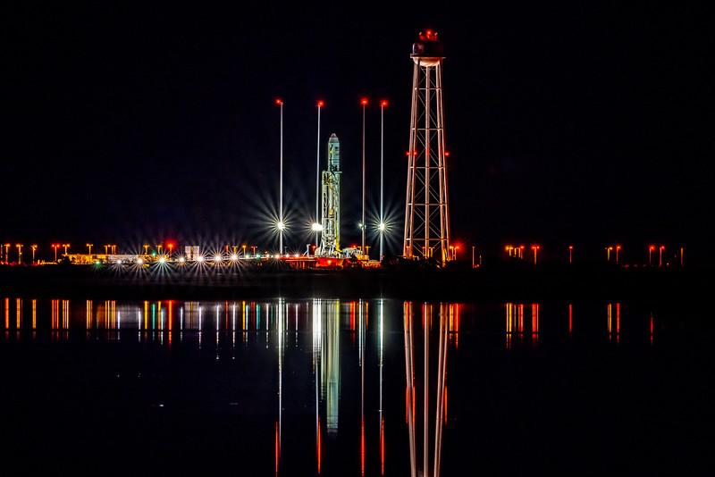Antares Rocket on Launchpad at NASA Wallops Island, VA 11/16/18