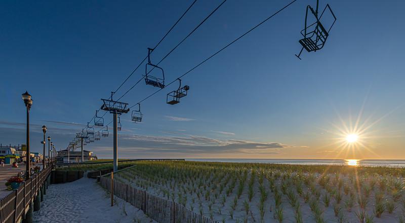 Sunrise Over The Sky Ride on Seaside Heights Beach 9/8/19