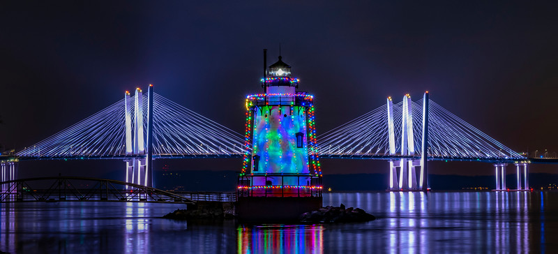 The Sleep Hollow Lighthouse With the Tappan Zee (Mario Cuomo) Bridge Behind It 12/11/20