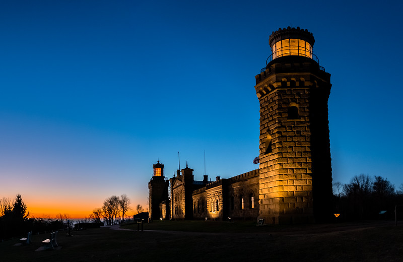 Predawn Colors Over Twin Lights Lighthouse 12/27/20