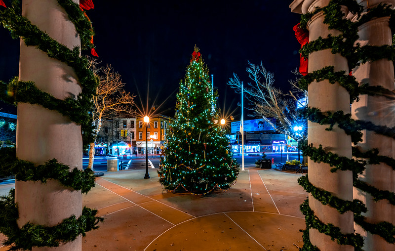 Christmas Display in Downtown Freehold 12/9/18