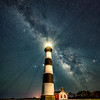 The Milky Way Rising Over The Bodie Island Lighthouse, Nags Head, NC 7/22/20