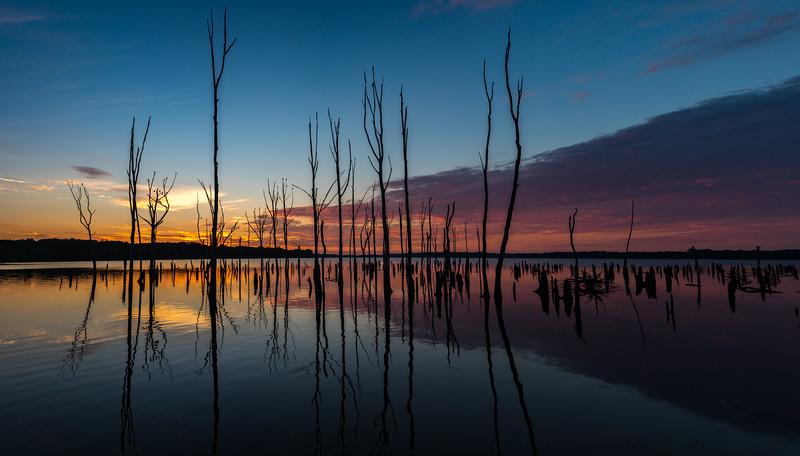 Predawn Colors Over Manasquan Reservoir 8/19/16