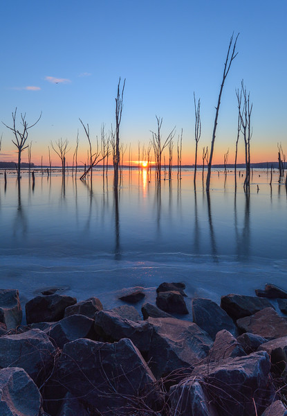 Frozen Sunrise at Manasquan Reservoir, Howell, NJ