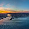 Fiery Sunset Over Jersey Shore Panorama 2/18/18