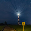 Bodie Lighthouse with Perseid Meteor, Outer Banks 8/14/18