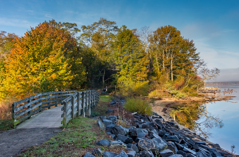 Autumn Colors Over Bridge at Manasquan Reservoir 10/23/17