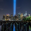 The Tribute in Light Over Lower Manhattan 9/11/19