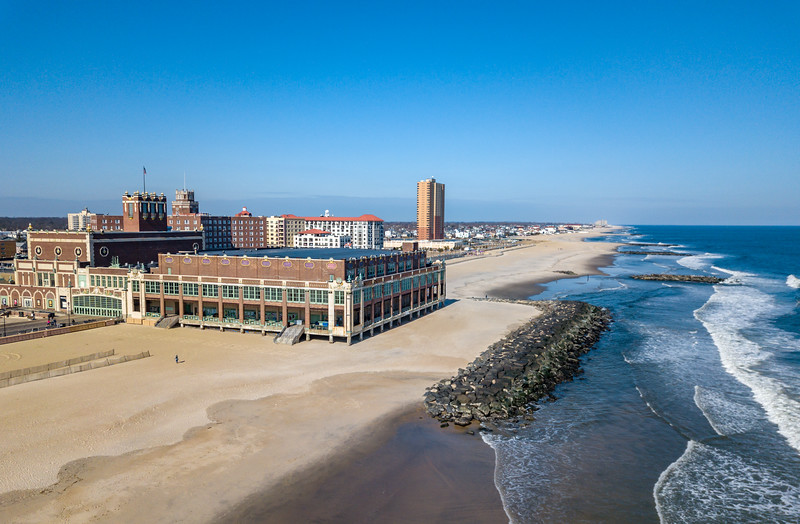 Asbury Park Convention Hall and Beach 2/14/18